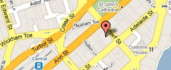 map for Brisbane CBD office