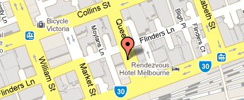 map for Melbourne CBD office