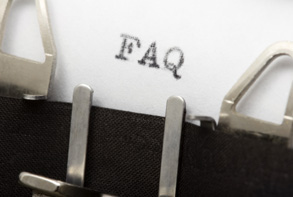 a close up photo of a typewriter with the letter FAQ typed on the page